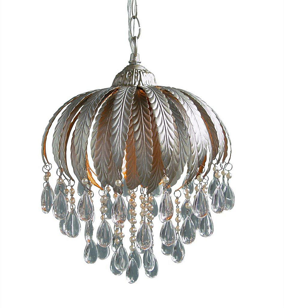1 Light Ceiling Fixture Champagne Finish