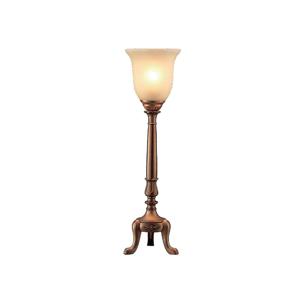 Canarm 1 Light Table Lamp, Aged Brass Finish
