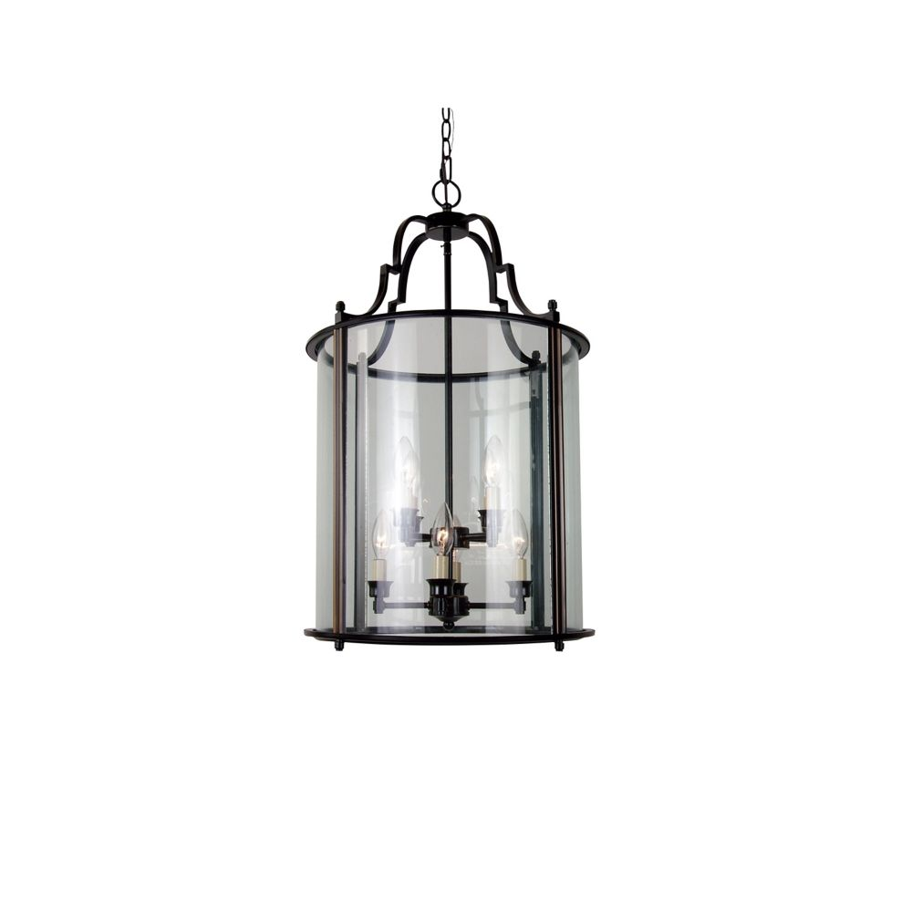 8 Light Ceiling Lantern Bronze Finish