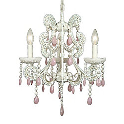 Illumine 3 Light Chandelier Pink Finish