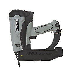 Hitachi Power Tools 2-Inch 18-Gauge Finish Brad Nailer with Safety Glasses, 2-Batteries, Charger and Case