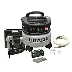 Hitachi Power Tools 18 Gauge Brad Nailer Kit.