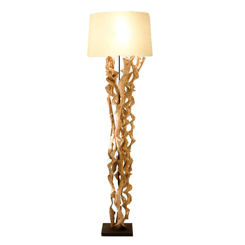 1 Light Floor Lamp Cream Finish