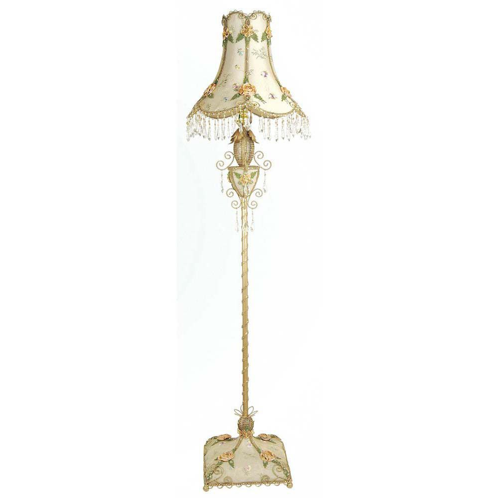 1 Light Floor Lamp Beige Finish