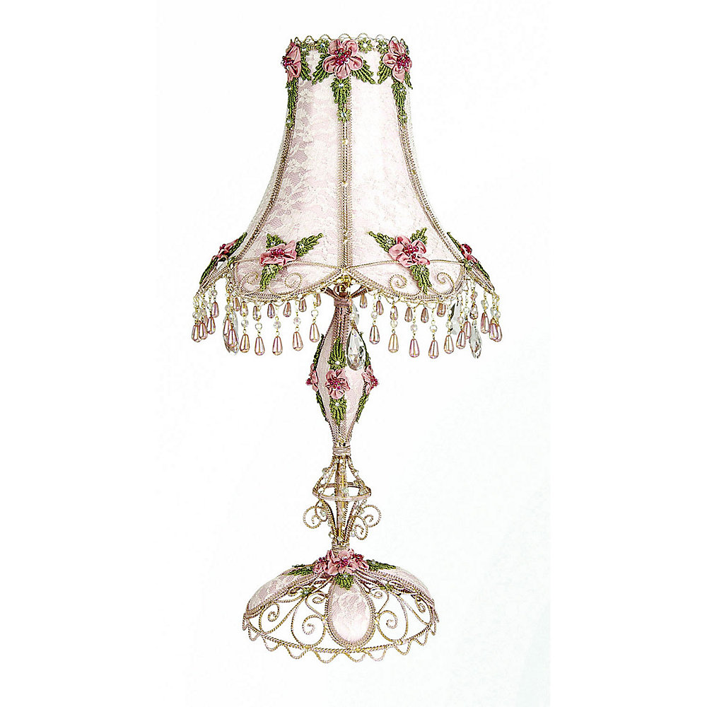 1 Light Table Lamp Pink Finish