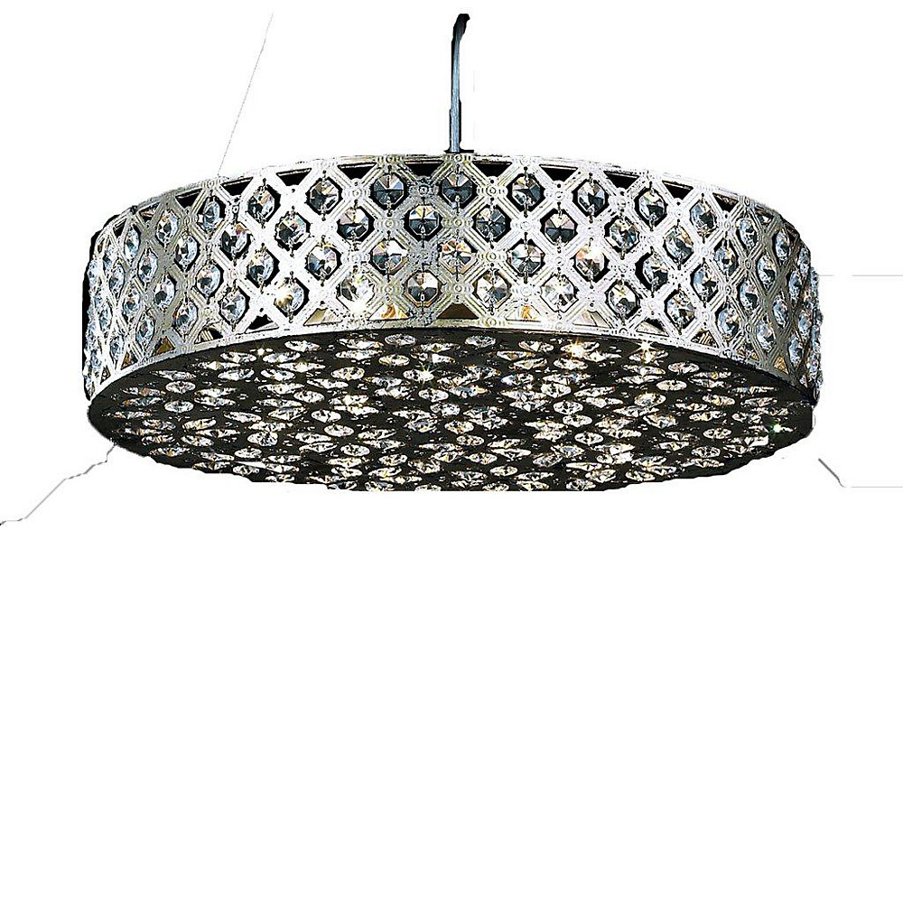 6 Light Ceiling Fixture Silver Finish