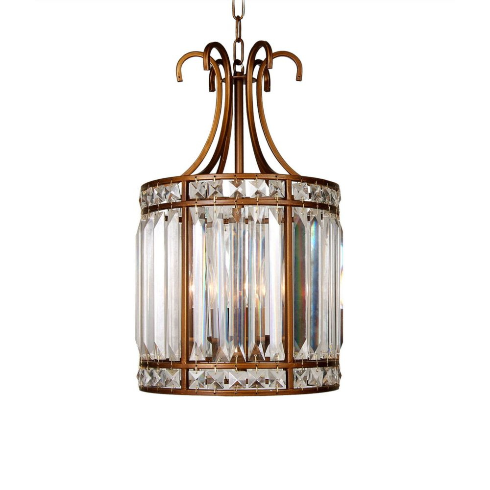3 Light Ceiling Fixture Gold Finish