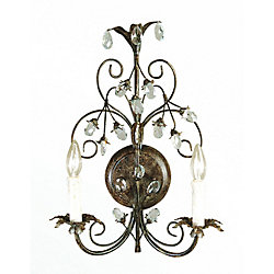 Illumine 2 Light Wall Sconce Brown Finish