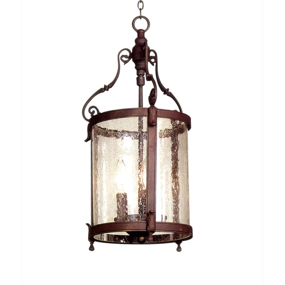 3 Light Ceiling Fixture Brown Finish
