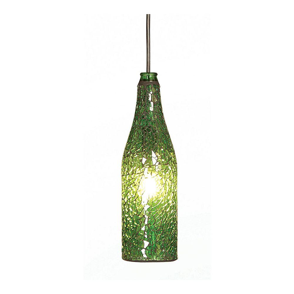 Illumine 1 Light Ceiling Fixture Green Finish