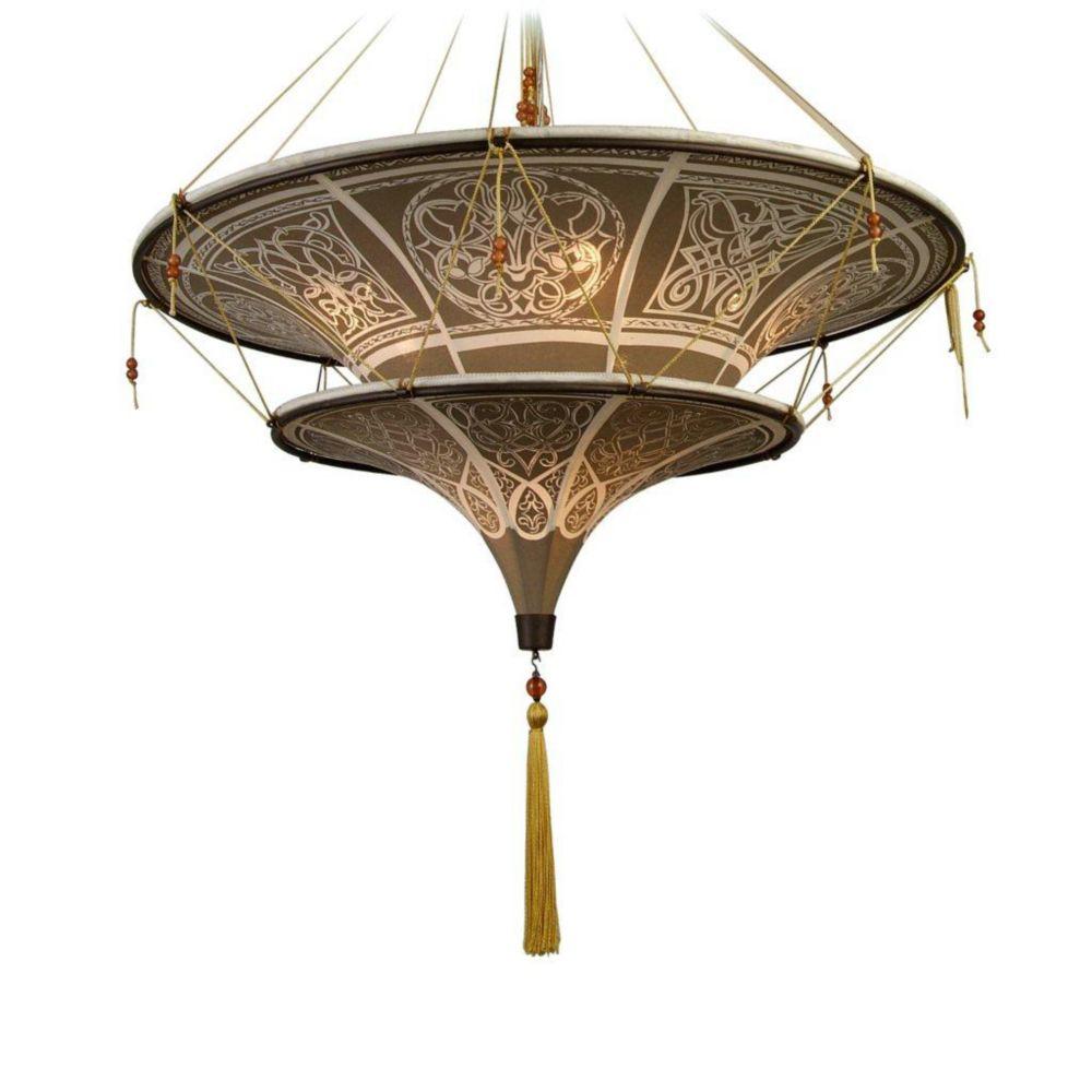 6 La Lumière Plafond lampe La Lumière Brun Terminer