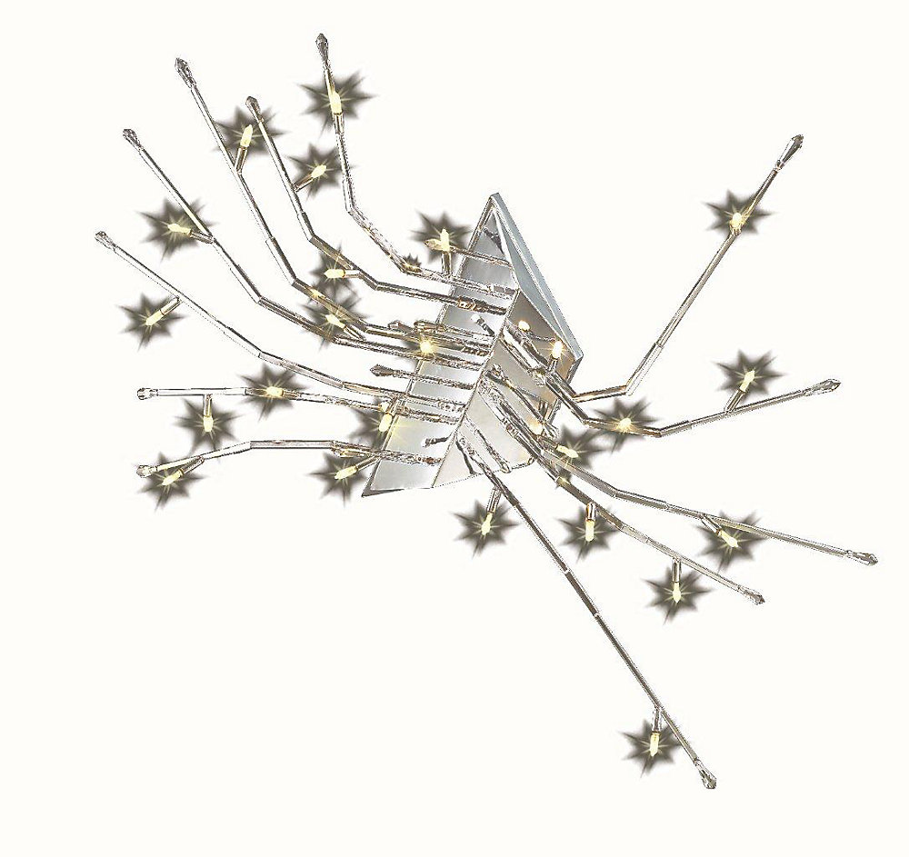 20 Light Ceiling Fixture Spider on Ceiling Style Clear Finish