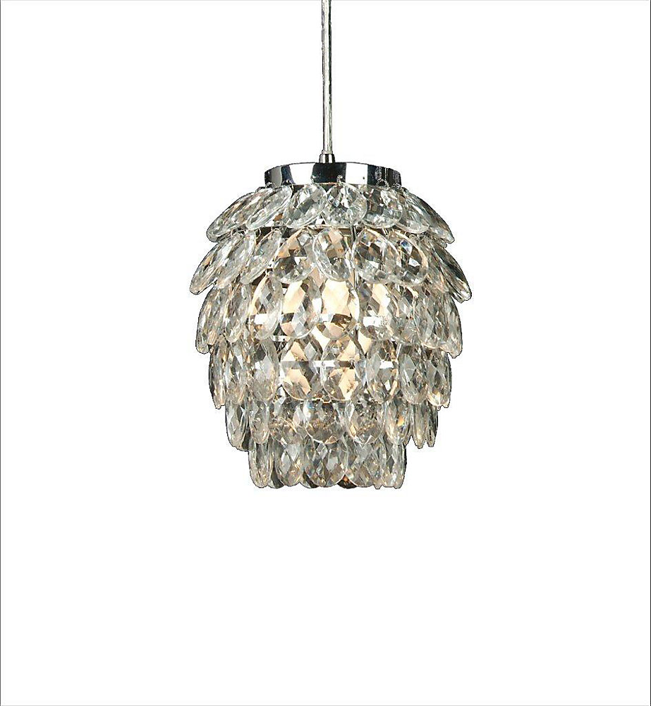 1 Light Ceiling Pendant Clear Finish