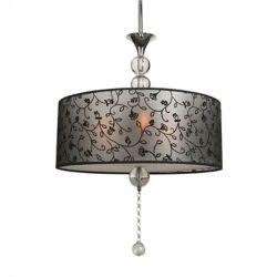 Illumine 3 Light Ceiling Fixture Black Finish