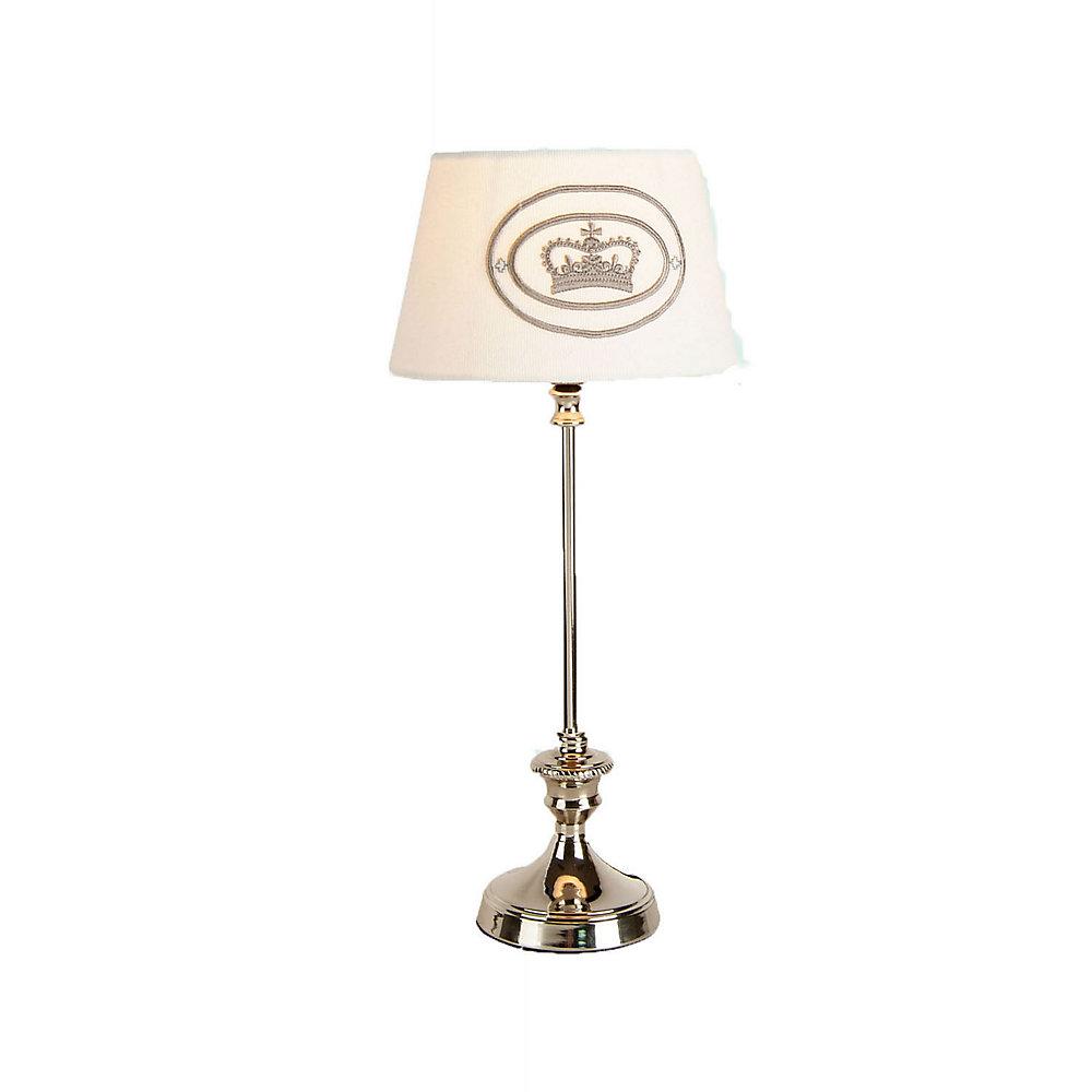 1 Light Table Lamp White Finish