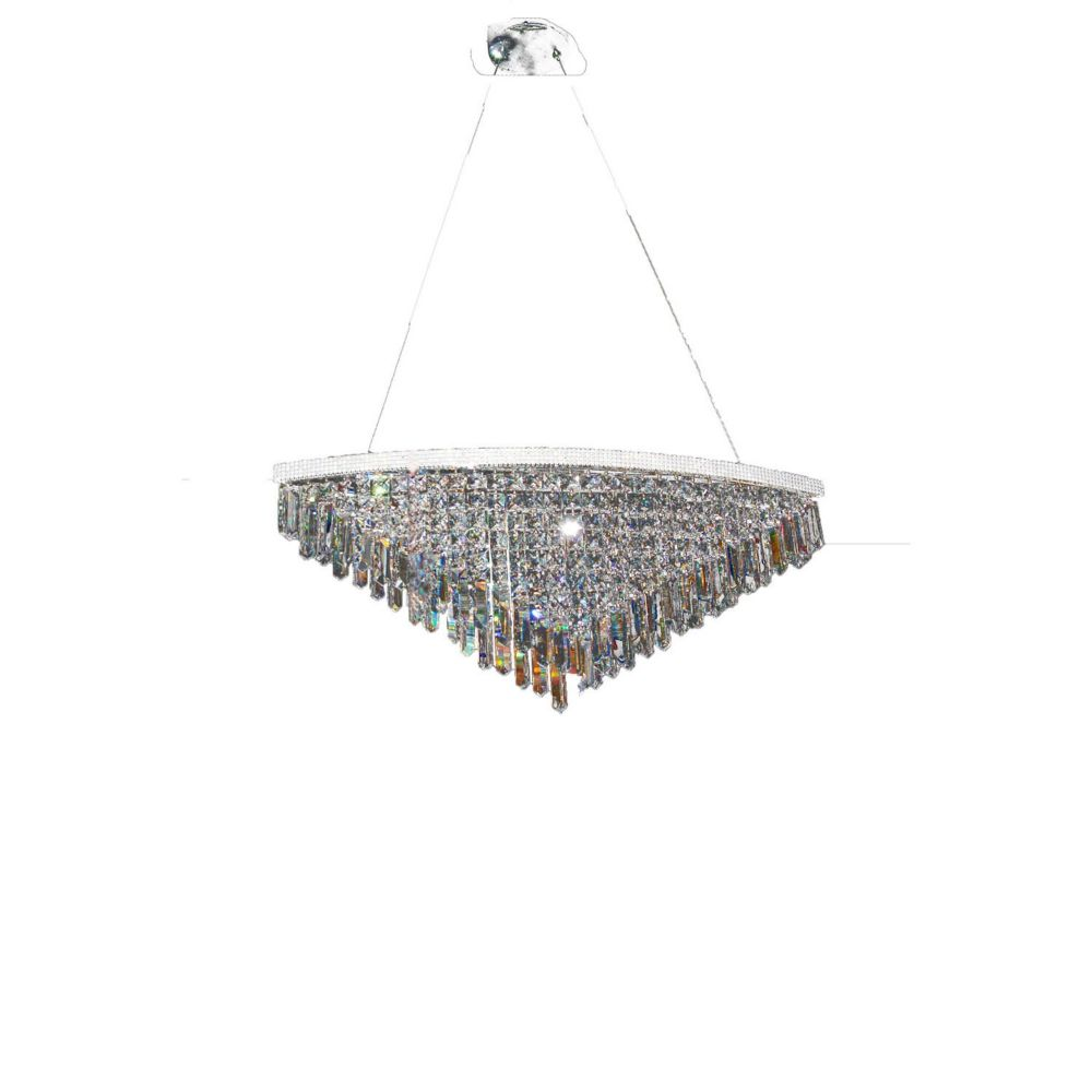 7 Light Ceiling Fixture Clear Finish