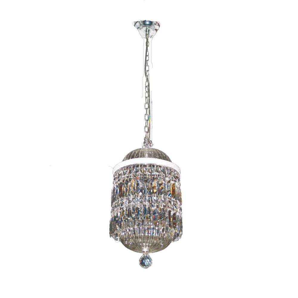 6 Light Ceiling Fixture Clear Finish