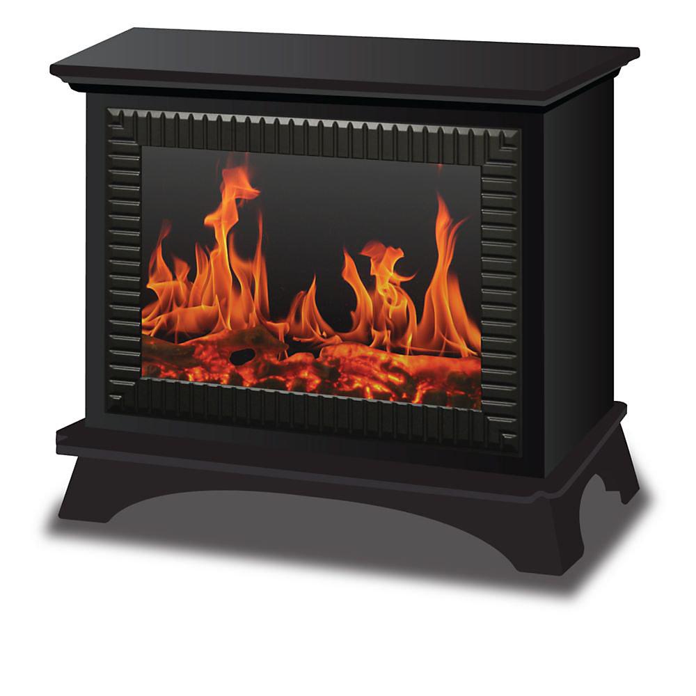 Boston Metallic Floor Standing Electric Fireplace
