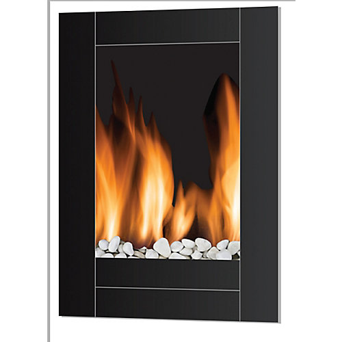 Monaco Wall Hanging LED Fireplace - Vertical Style