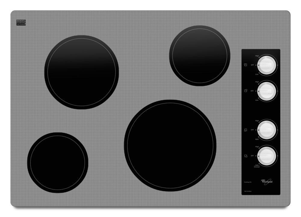 Table de cuisson électrique 30 pouce avec surface en vitrocéramique Schott Ceran - W5CE3024XW