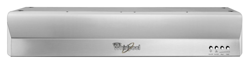 Whirlpool 30-inch Gold 300 CFM Vented Under Cabinet Range Hood in Stainless Steel - ENERGY STAR®