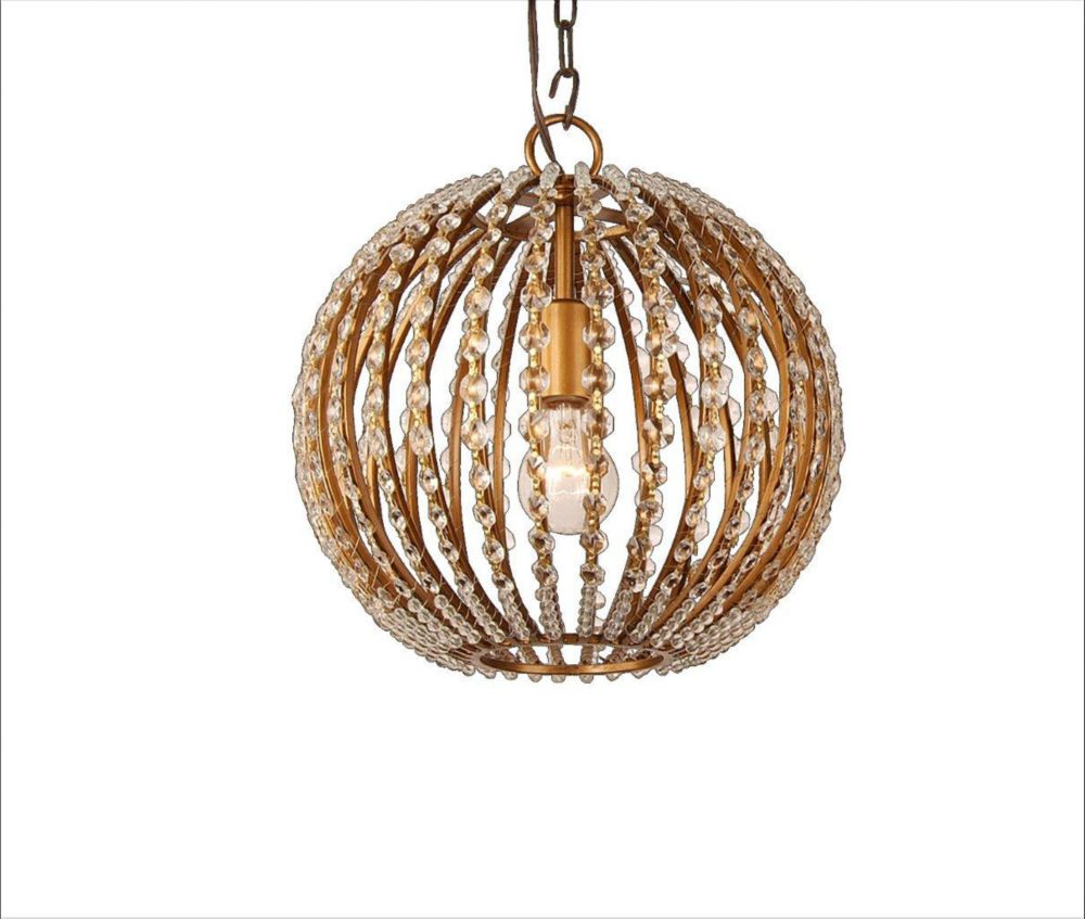 1 Light Ceiling Fixture Gold Finish