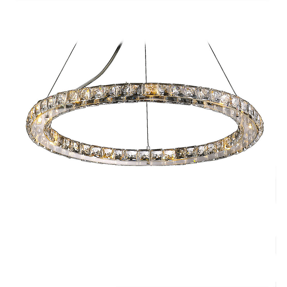 9 Light Ceiling Fixture Clear Finish