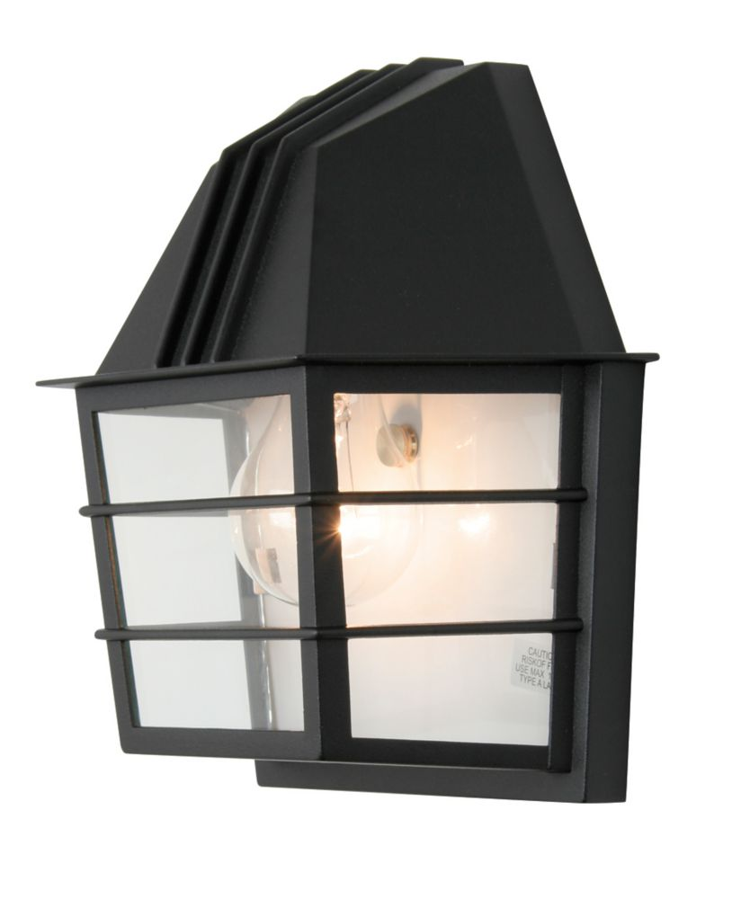 Focus Collection 60w 1 Light Black Outdoor Wall