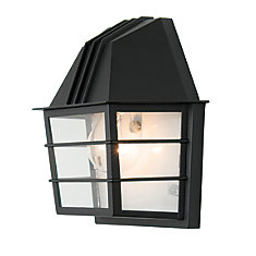 Focus Collection 60W 1-Light Black Outdoor Wall Light
