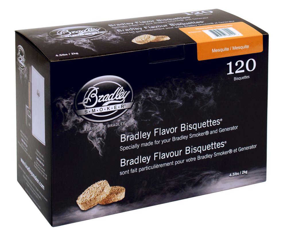 Paquet de 120 bisquettes pour fumage au mesquite