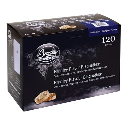 Bradley Smoker Pacific Blend Smoking Bisquettes (120-Pack)