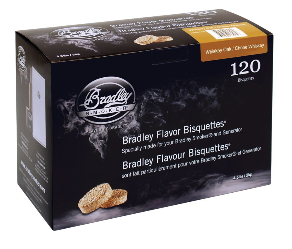 Whiskey Oak Smoking Bisquettes (120 Pack)