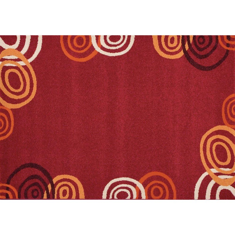 Foreign Accents Fiesta Red 5 ft. x 7 ft. Rectangular Area Rug