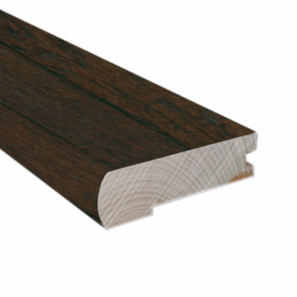 78 Inches Hand Scraped Flush Mount Stair Nose-Matches Chestnut Hickory Click Flooring