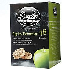 Paquet de 48 bisquettes pour fumage à la pomme
