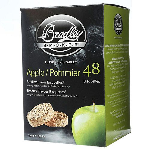 Bradley Smoker Apple Flavour Bisquettes (48-Pack)