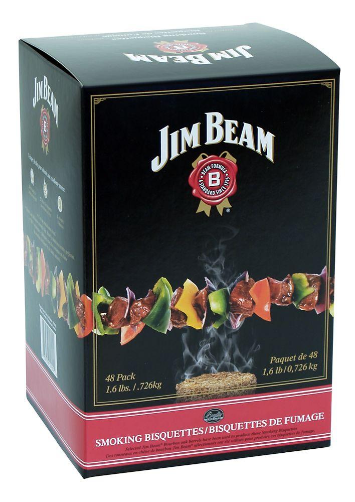 Paquet de 48 bisquettes pour fumage au Bourbon
