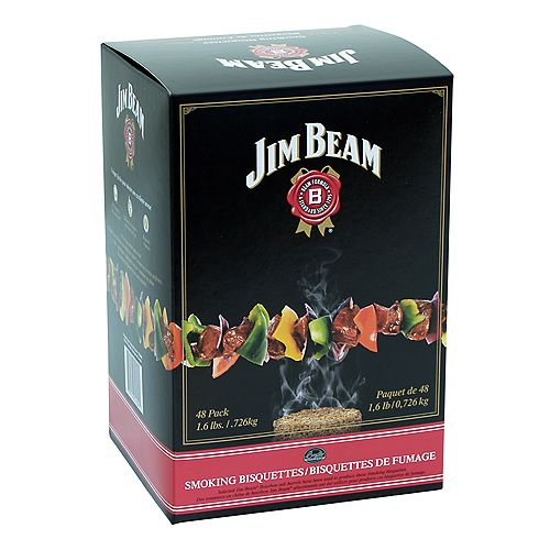 Jim Beam Bourbon Smoking Bisquettes (48-Pack)