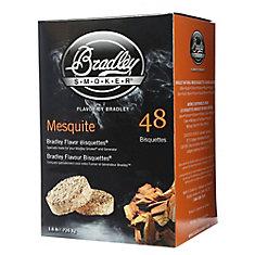 Paquet de 48 bisquettes pour fumage au mesquite