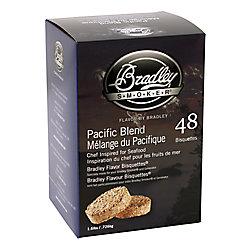 Bradley Smoker Paquet de 48 bisquettes pour fumage au Mélange du Pacifique