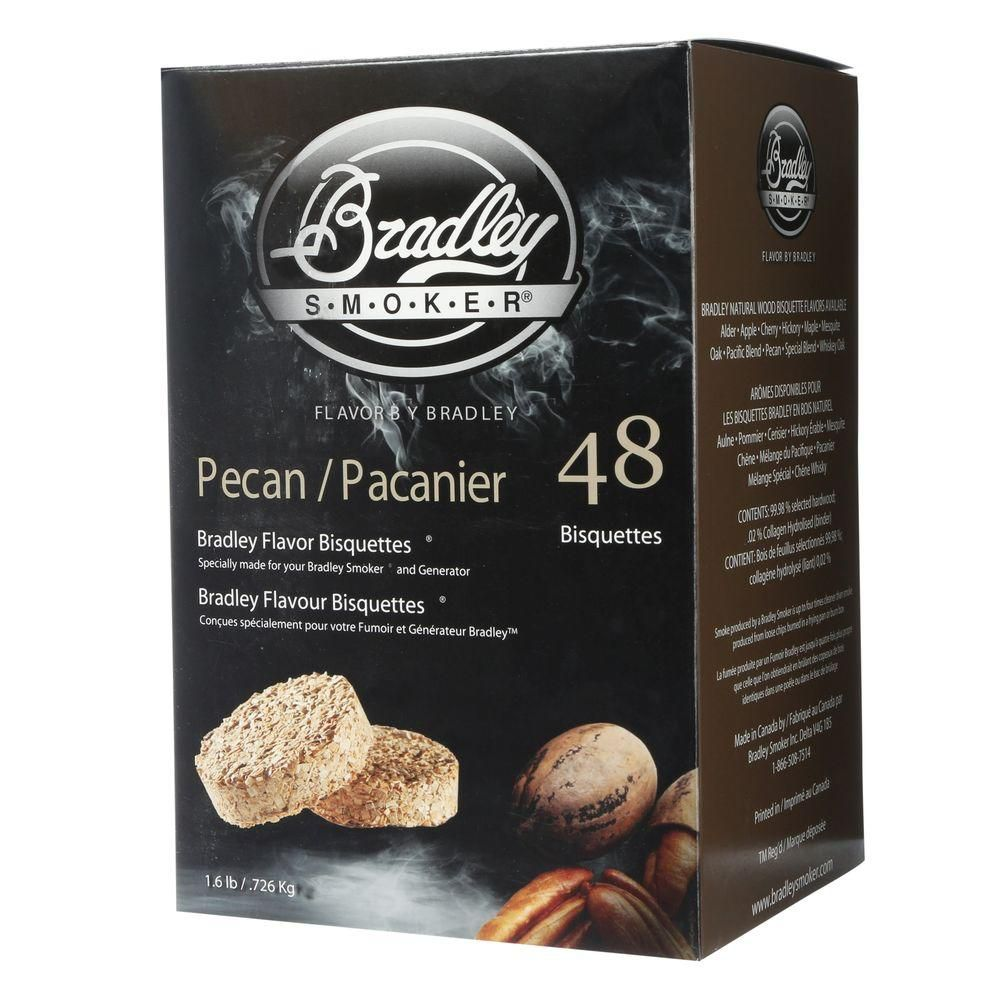 Bradley Smoker Pecan Smoking Bisquettes (48-Pack)
