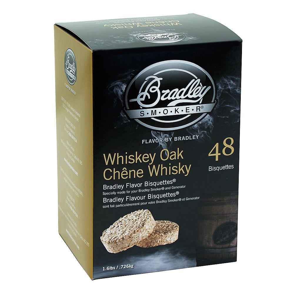 Bradley Smoker Whiskey Oak Smoking Bisquettes (48-Pack)