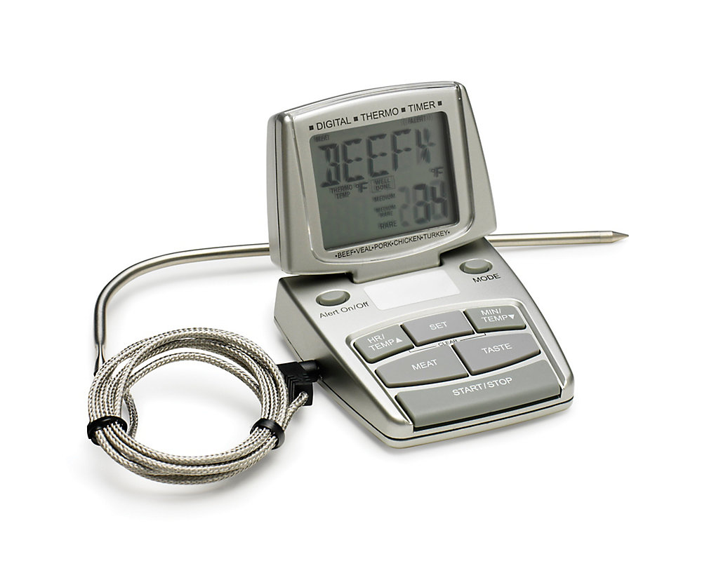 200462269 Bradley Smoker Digital Meat Thermometer with Alarm   The Home Depot ...