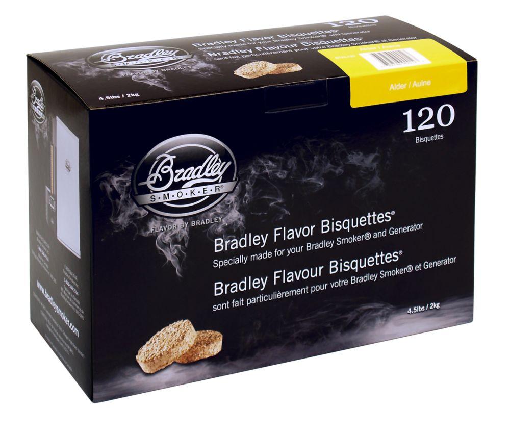 Paquet de 120 de bisquettes pour fumage à l'aulne