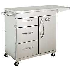 Smoker Storage Cart in Stainless Steel