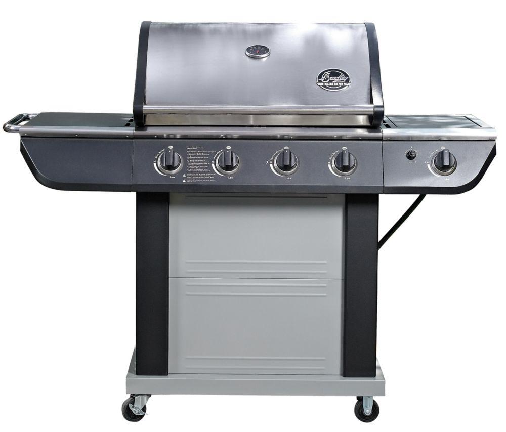 4-Burner BBQ in Stainless Steel