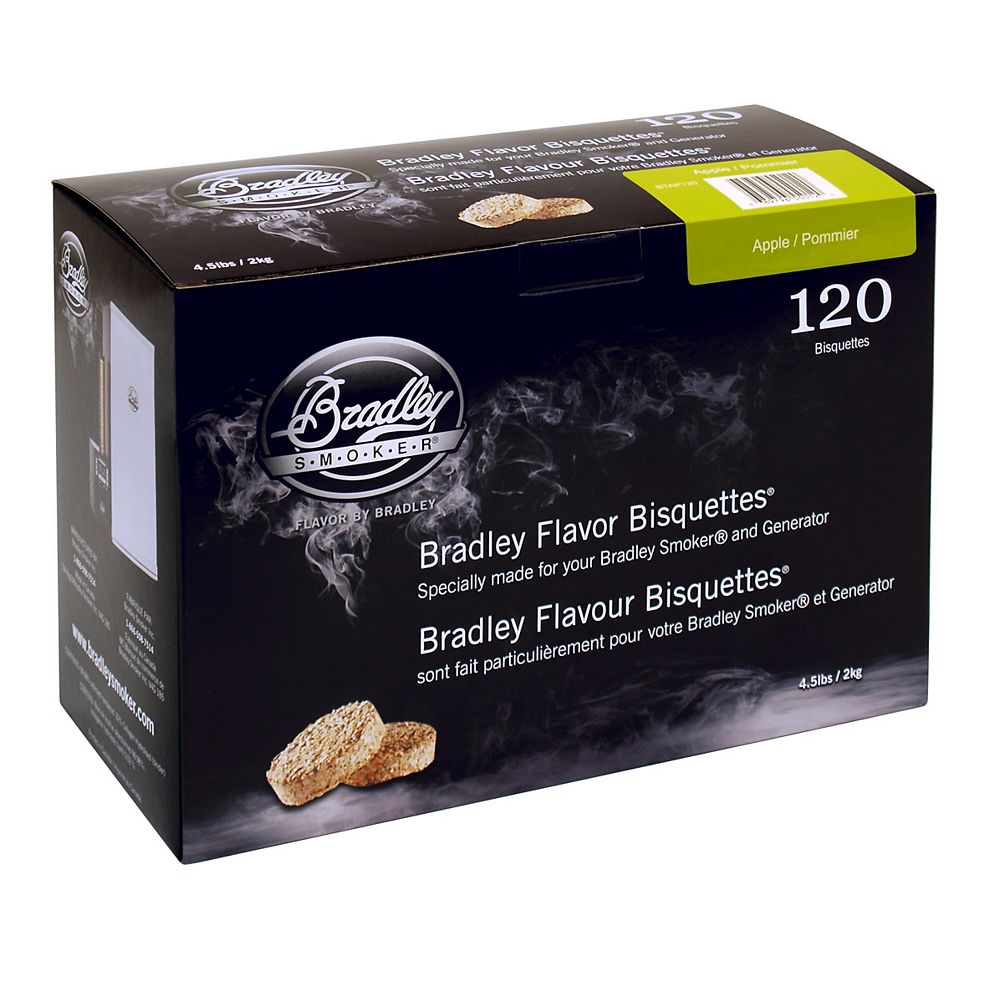 Bradley Smoker Apple Smoking Bisquettes (120-Pack)