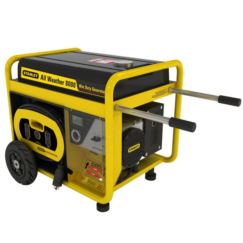 Génératrice 8000 watts quatre saisons avec  démarrage  électrique, panneau de commande détachable...