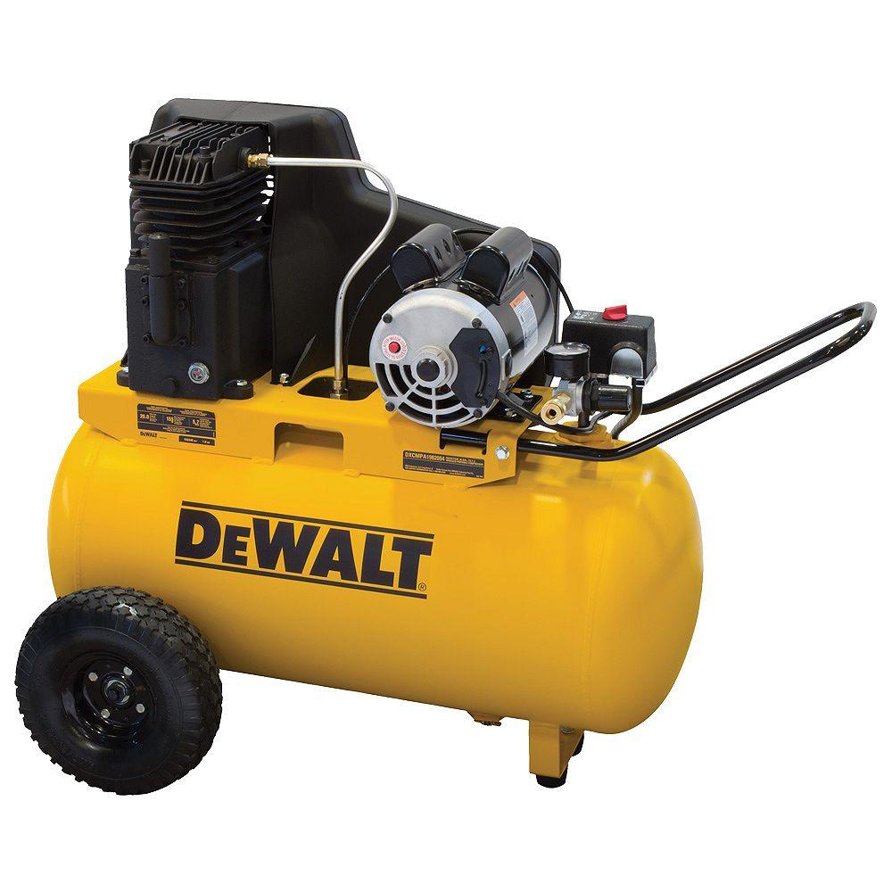 DEWALT Compresseur d'air électrique portable de 75,71 litres (20 gallons)