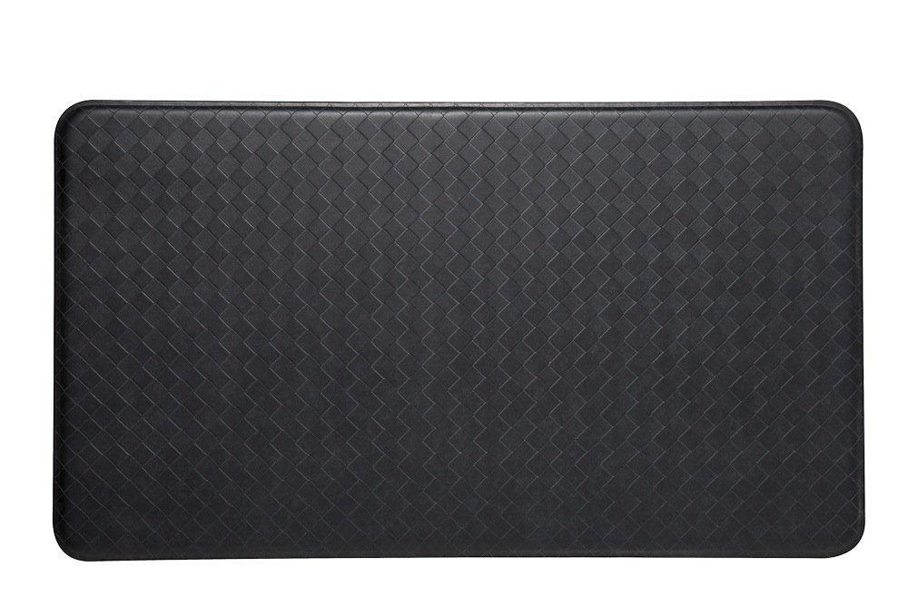 Imprint Comfort Mats Nantucket Series Standard Black 20-inch x 36-inch Mat